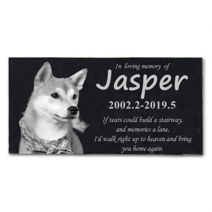 Pet Memorial Stones Engraved With Pet S Photo Personalized