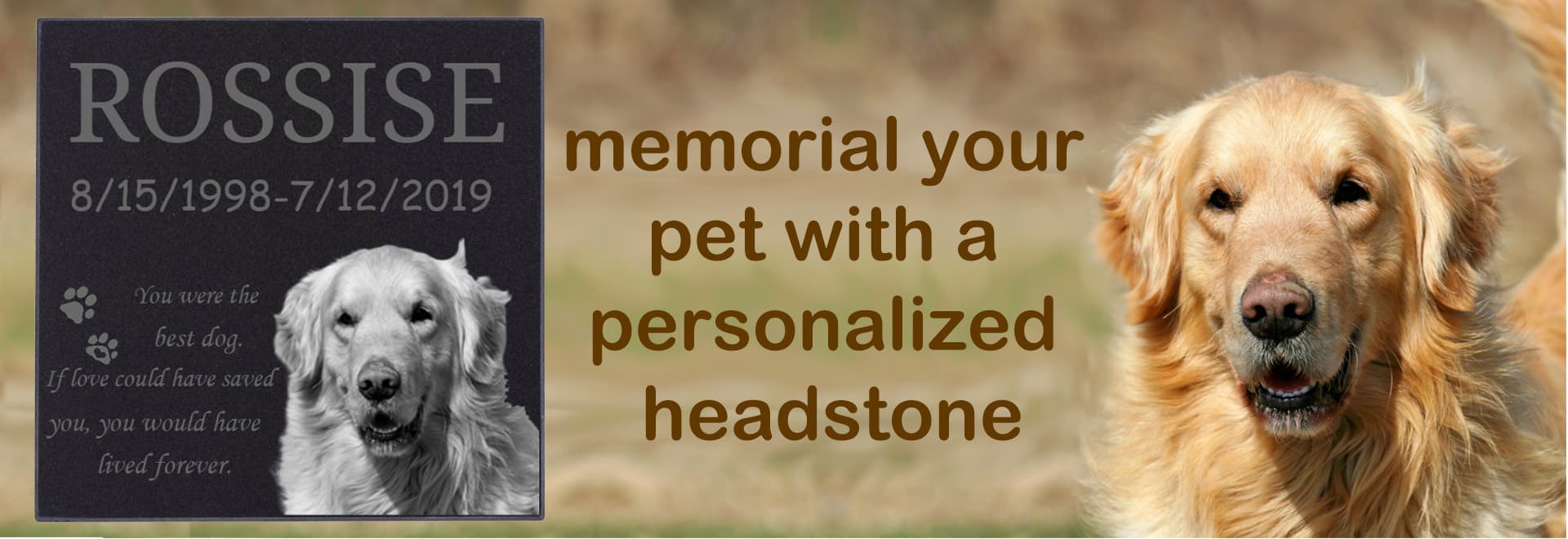Dog Memorial Headstones with Pictures